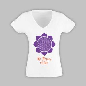 """t-shirt donna """"fiore della vita"""""""