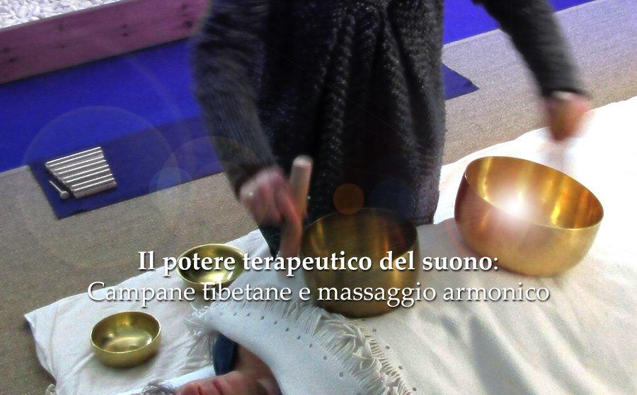 massaggio armonico con campane tibetane