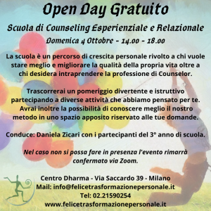 Open Day 4 Ottobre